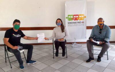 METROVIÁRIOS CONQUISTAM APOIO DE MAIS UMA CANDIDATURA CONTRA A PRIVATIZAÇÃO DA TRENSURB