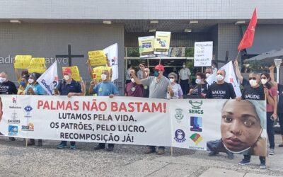 TRABALHADORES DA LINHA DE FRENTE PEDEM VACINAÇÃO URGENTE